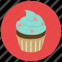 cupcake, dessert, food, frosting, sweets