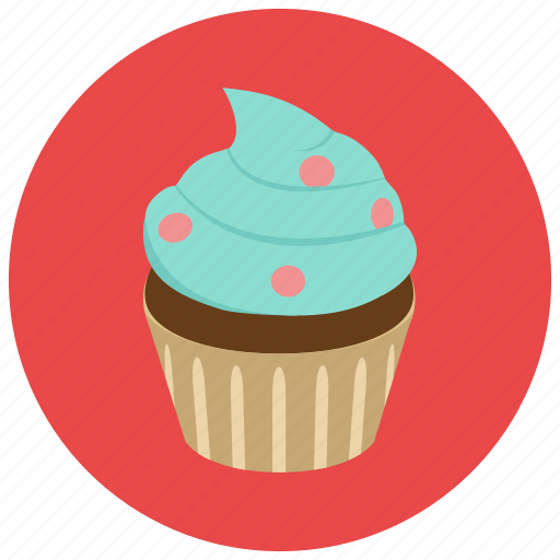 cupcake, dessert, food, frosting, sweets icon