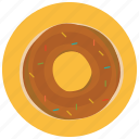breakfast, donut, food, pastry, round, sweets icon