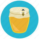 bee, food, honey, jar, sweet, sweets icon