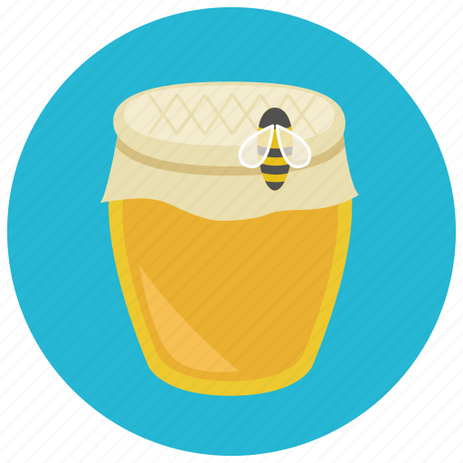 bee, food, honey, jar, sweet, sweets icon