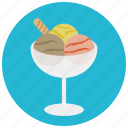 chocolate, dessert, food, glass, icecream, strawberry, sweets
