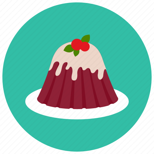 cherry, dessert, food, jelly, plate, sweets icon
