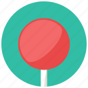 food, lollipop, plain, round, stick, sweets icon