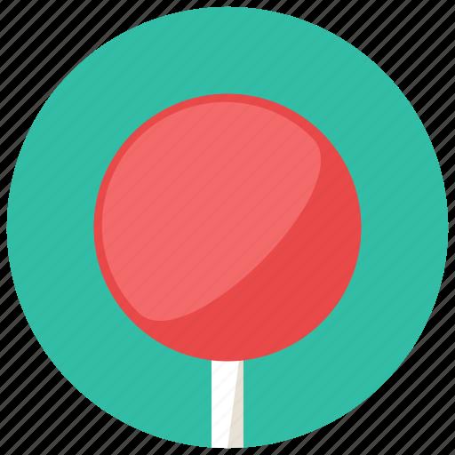 food, lollipop, plain, round, stick, sweets icon