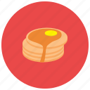 breakfast, butter, food, pancake, sweets, syrup icon