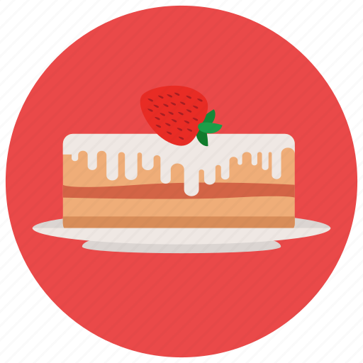 cake, dessert, food, plate, strawberry, sweets icon