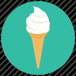 cone, dessert, food, icecream, sweets, vanilla icon