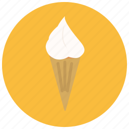 cone, dessert, food, icecream, sweets, vanilla icon