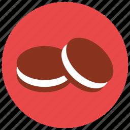 chocolate, cookie, dessert, food, sweets, vanilla icon
