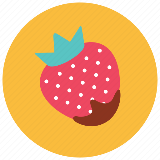 chocolate, dessert, dipped, food, strawberry, sweets icon