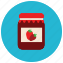 breakfast, food, jam, strawberry, sweets icon