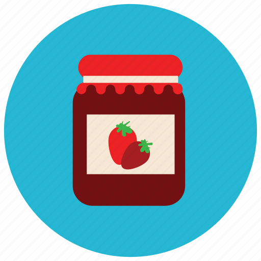 breakfast, food, jam, strawberry, sweets icon