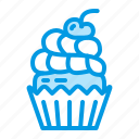 birthday, cupcake, dessert, food, muffin icon