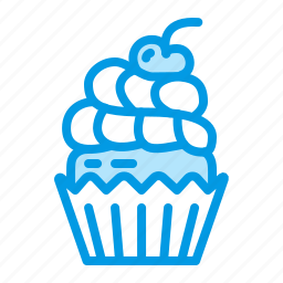 birthday, cupcake, dessert, food, muffin icon