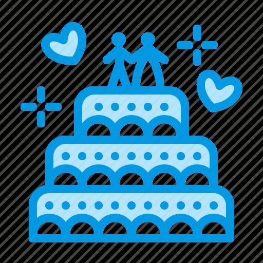 cake, food, sweet, wedding icon