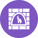 fire, flame, heat, hot, light, oven, wood icon