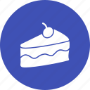 birthday, cake, chocolate, cream, food, piece, slice icon
