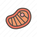 barbeque, beverage, color, food, meal, meat icon