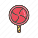 beverage, candy, color, food, lollipop, toffee icon