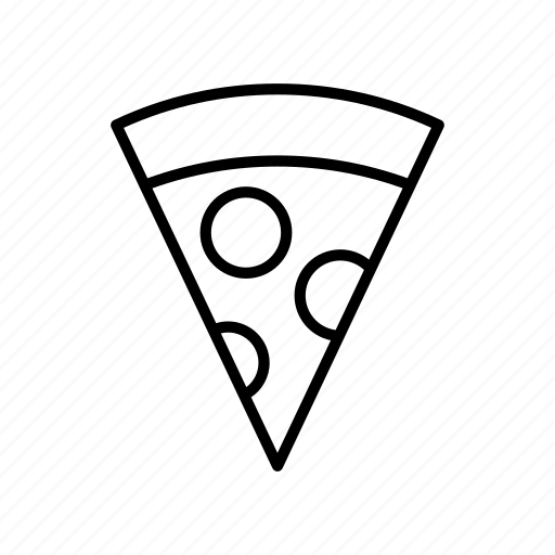 food, meal, pizza, slice, slice of pizza icon