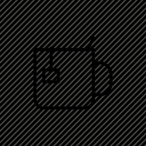 beverage, caffeine, cup, drink, hot, tea, tea bag icon