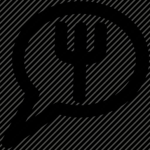 bubble, bubble fork, comments, communication, hotel chat, message, speech, talk icon