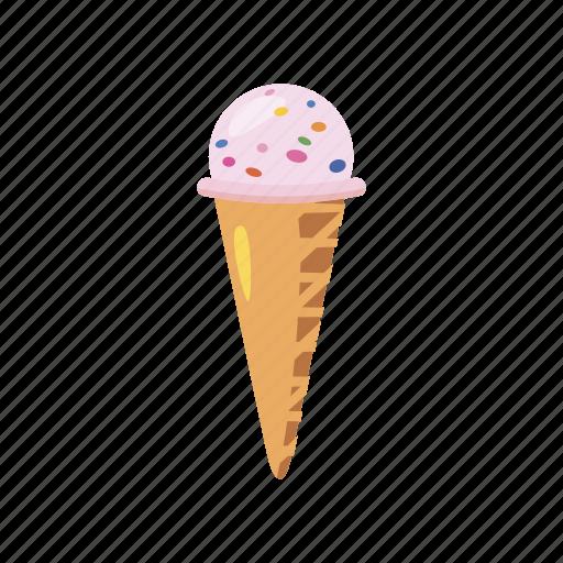 cartoon, cold, cone, cream, dessert, food, ice icon