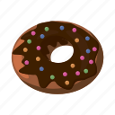 bakery, breakfast, cartoon, delicious, dessert, donut, tasty icon