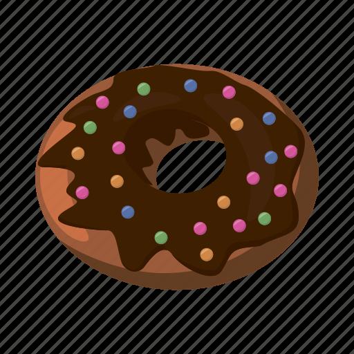 bakery, breakfast, cartoon, delicious, dessert, donut, tasty icon