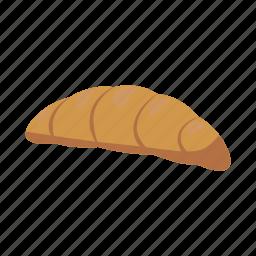 bakery, bread, breakfast, bun, cartoon, croissant, food icon