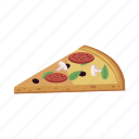 cartoon, dinner, fast, food, pizza, restaurant, slice