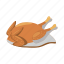cartoon, chicken, fried, meal, roast, roasted, turkey icon