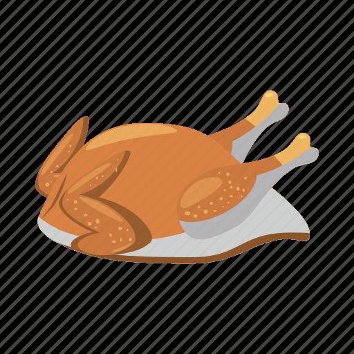 cartoon, chicken, fried, meal, roast, roasted, turkey icon