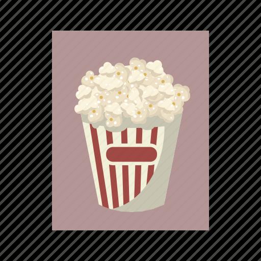box, cartoon, cinema, corn, food, popcorn, snack icon
