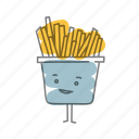 characters, food, french fries, potatoes icon