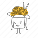 box, characters, food, noodle icon