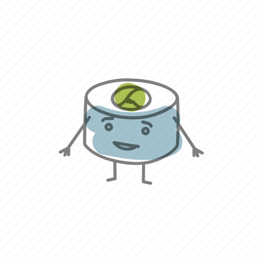 characters, food, sushi icon