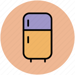 electronics, fridge, home appliance, kitchen appliance, refrigerator icon