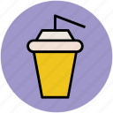 cold coffee, disposable cup, juice cup, paper cup, smoothie cup, takeaway coffee icon