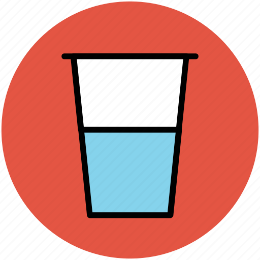 beverage, drink, glass, juice, water glass icon