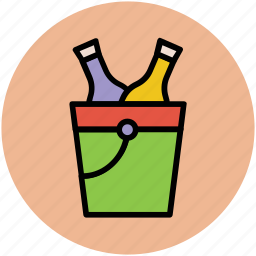 alcohol bottles, drink bottles, wine bottles, wine bucket, wine cooler icon