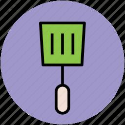cooking spoon, kitchen accessories, spatula, spoon, turner spoon, utensils icon