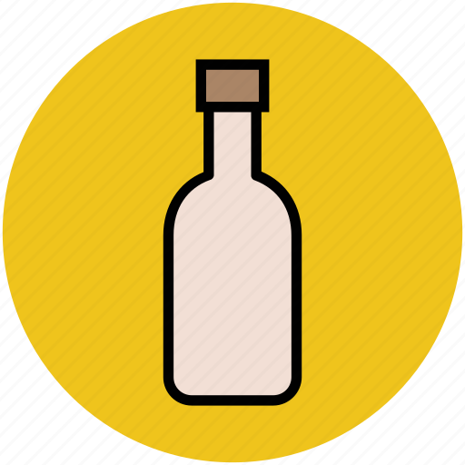 alcohol bottle, bottle, drink, sauce bottle, wine bottle icon