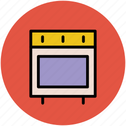 cooking appliance, cooking range, kitchen stove, range cooker, stove icon