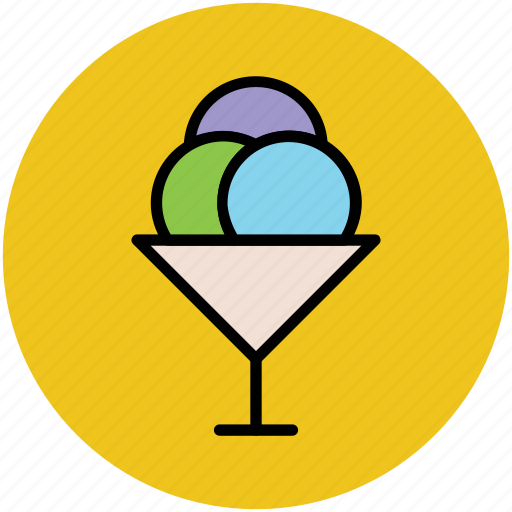 dessert, frozen dessert, ice cream, ice cream balls, ice cream cup, sweet icon