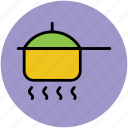cooking, cooking pot, cookware, lunch, meal, meal preparation icon