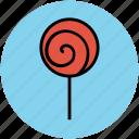 candy, confectionery, lollipop, lolly, sweet, sweet snack, swirl lollipop icon