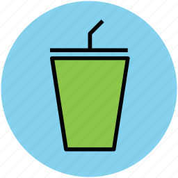 cold coffee, disposable cup, juice cup, paper cup, takeaway coffee icon