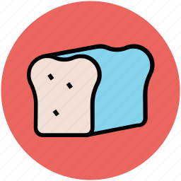 bakery food, bread, bread loaf, breakfast, staple food icon